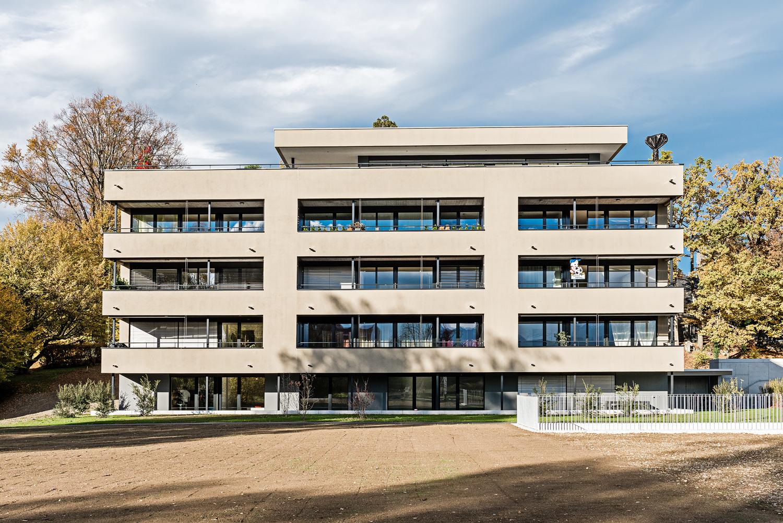 Neubau Mehrfamilienhaus Kreuzbuch Meggen Südfassade